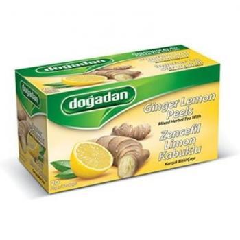 Dogadan Ingwer Zitronenschale Kreutertee, 20 Beutel