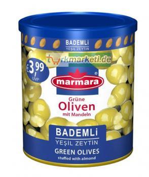 Marmara Grüne Oliven mit Mandeln, 800g