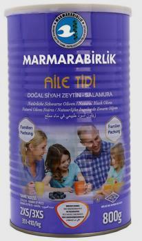 Maramarabirlik Schwarze Oliven Familien Packung, 2XS/3XS 800gr