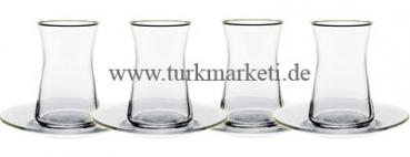 Pasabahce Heybeli Türkisches Tee Set 8st